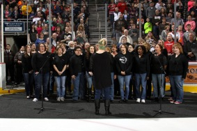 Cumberland Singers at a Hershey Bears hockey game