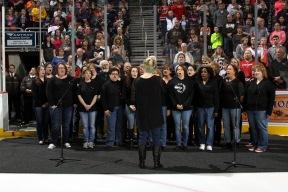Cumberland Singers at a Hershey Bears hockey game